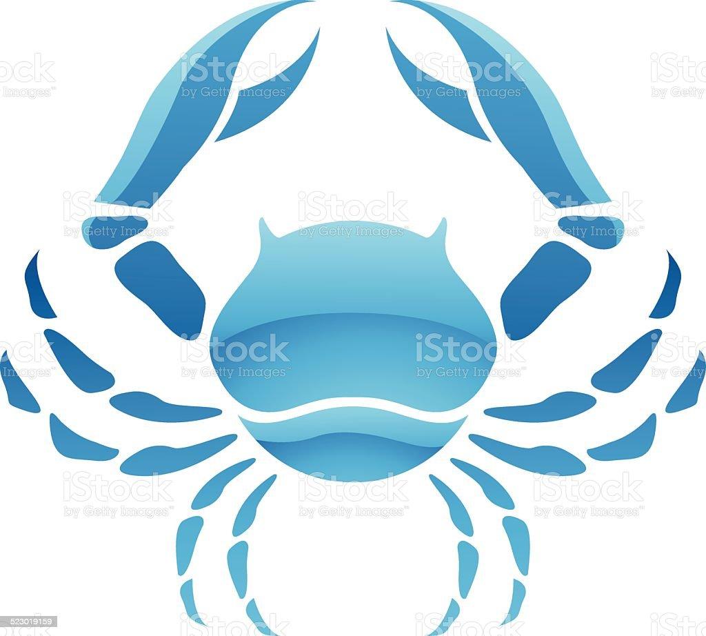 Cancer signe symbole Star stock vecteur libres de droits libre de droits