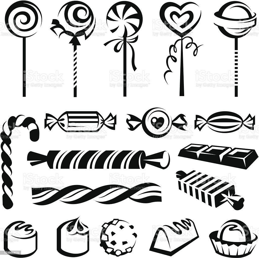 candies set vector art illustration