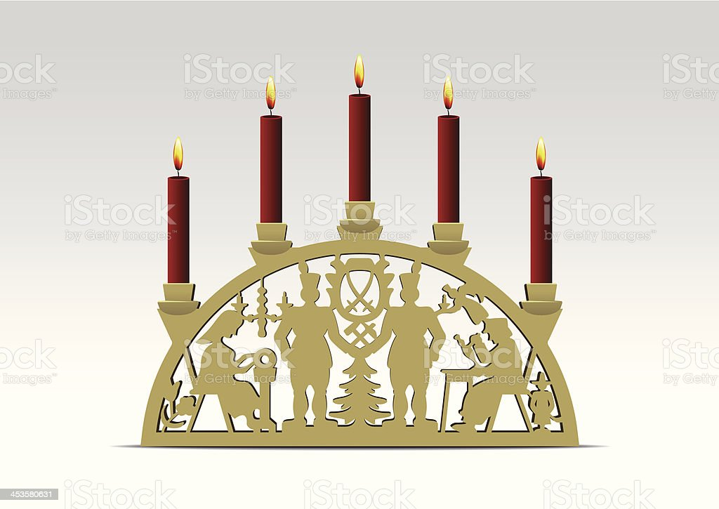 Candle Arch vector art illustration