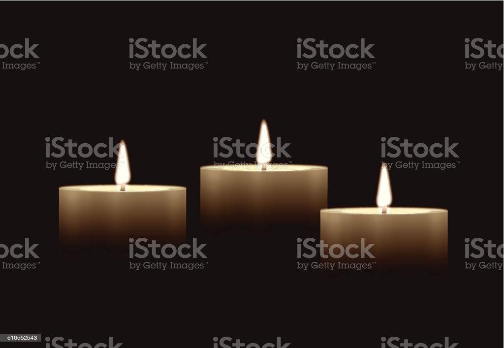 Candle Background vector art illustration