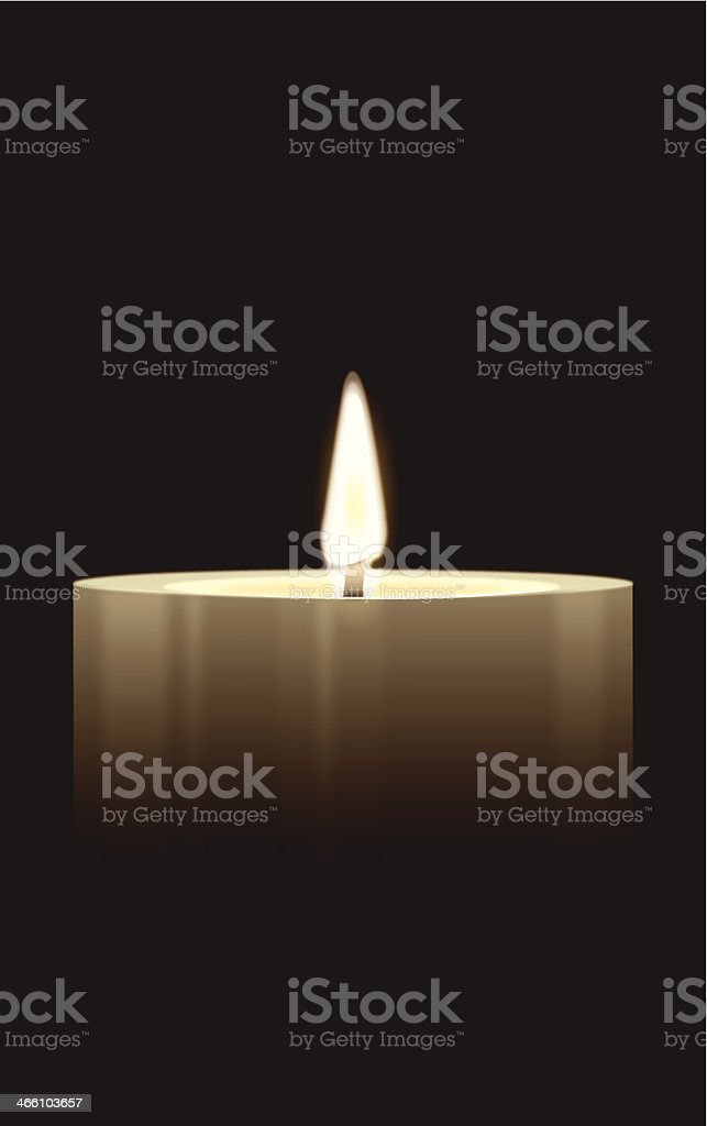 Candle - Burning Flame Background vector art illustration