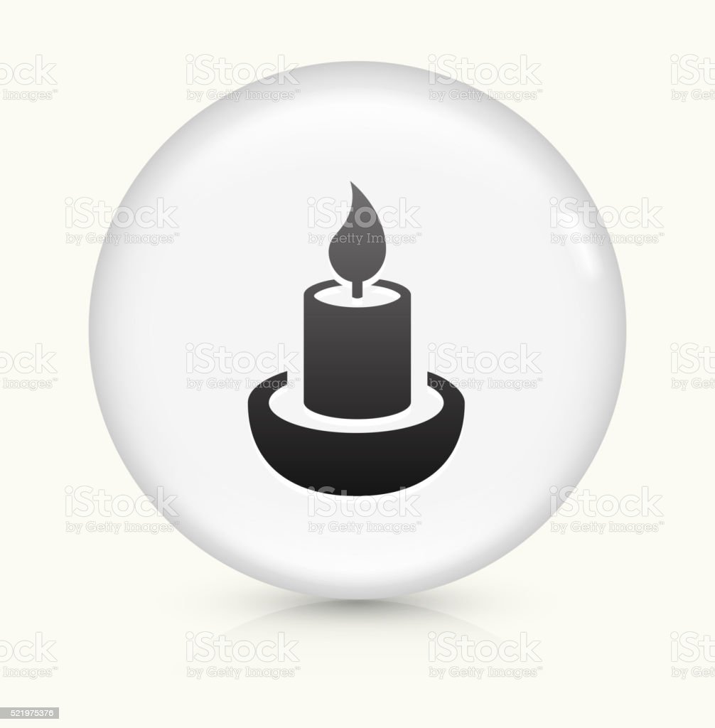 Candle icon on white round vector button vector art illustration