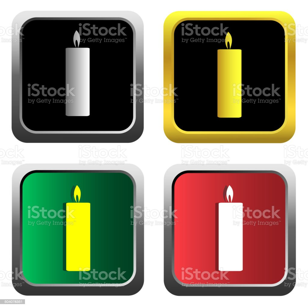 Candle icon set royalty-free stock vector art