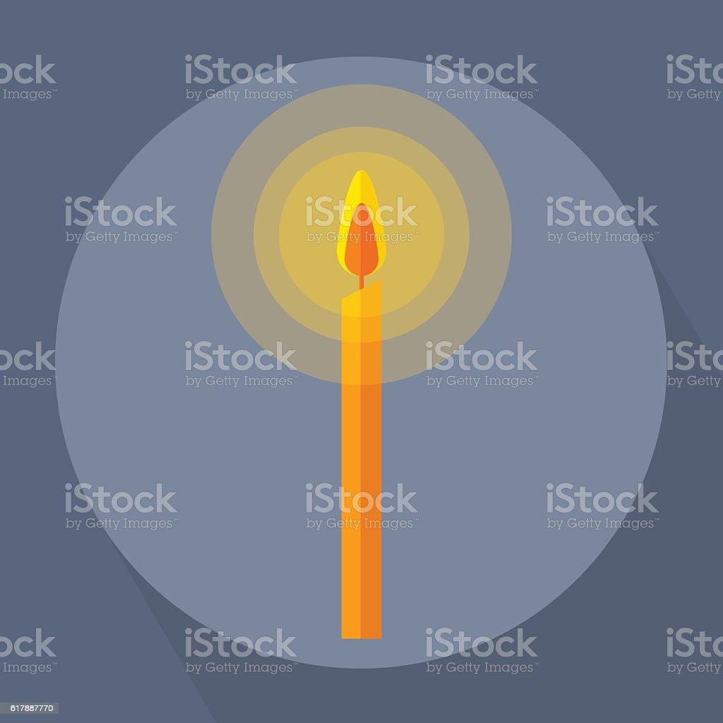 Candle Light vector art illustration