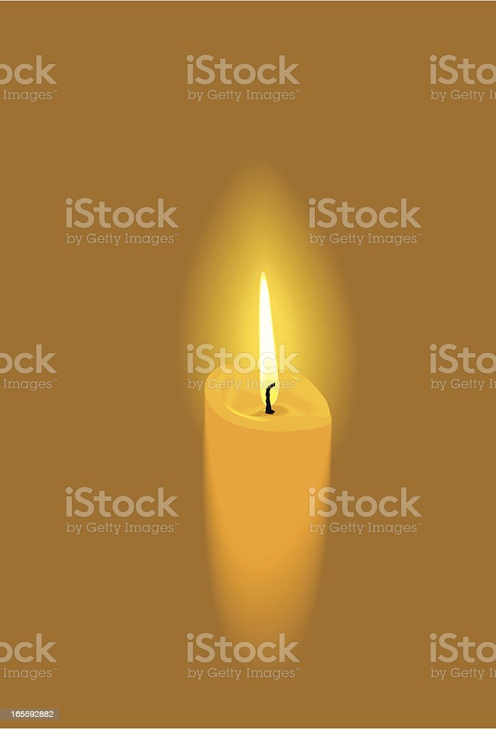 Candle soft vector art illustration