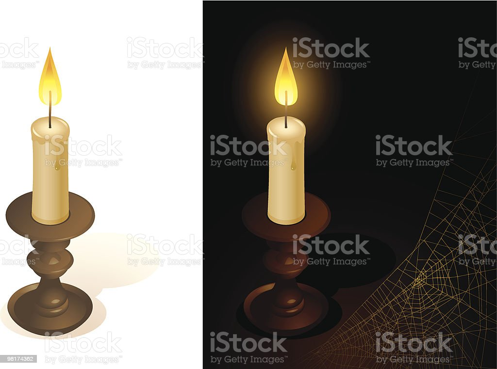 Candle vector art illustration