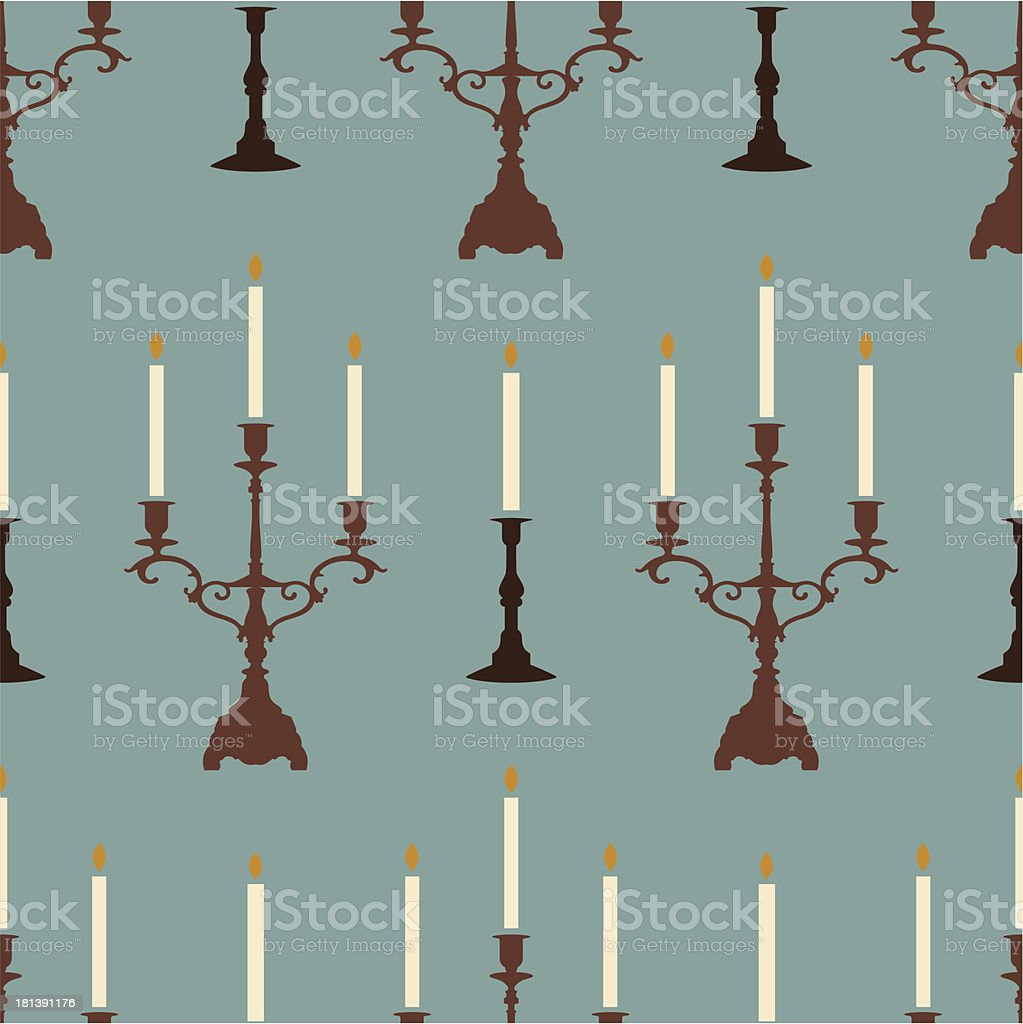 candles blue pattern royalty-free stock vector art