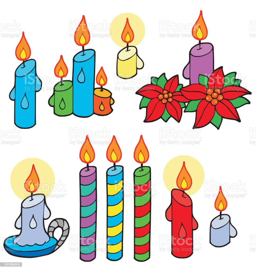 Candles collection royalty-free stock vector art