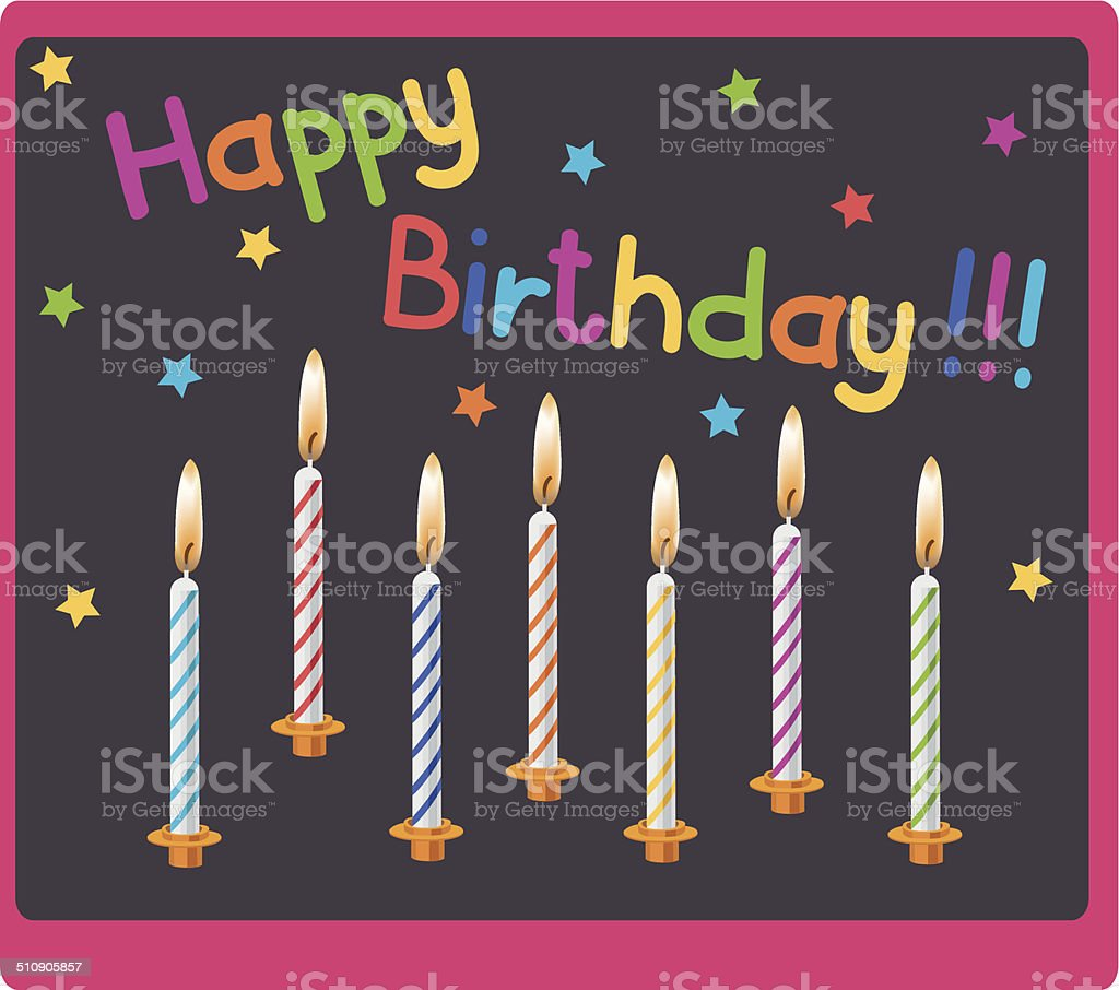 candles on birthday royalty-free stock vector art