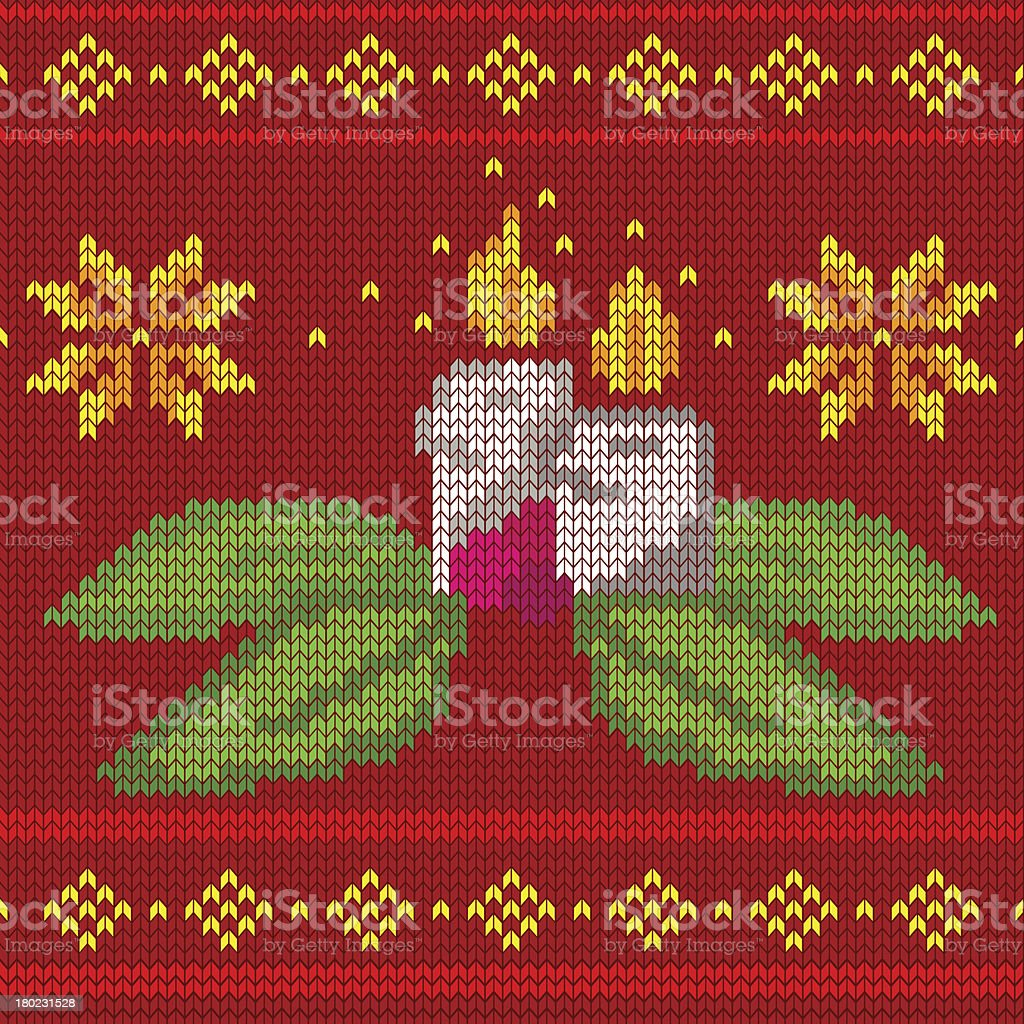 candles seamless knit pattern royalty-free stock vector art