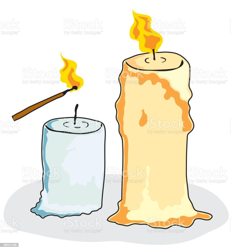 candles royalty-free stock vector art