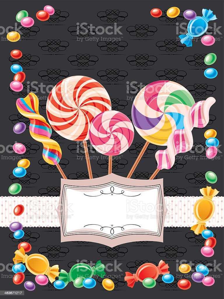 Candy Background (Vertical) vector art illustration