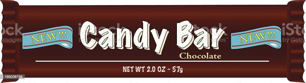 Candy Bar vector art illustration
