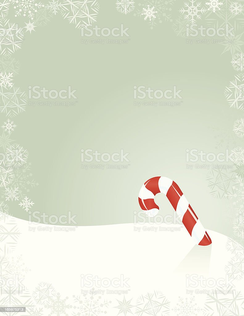 Candy Cane Background - Christmas Holiday royalty-free stock vector art