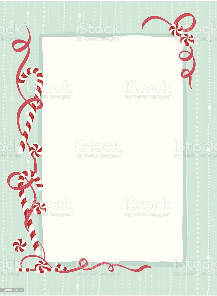 Candy cane border vector art illustration