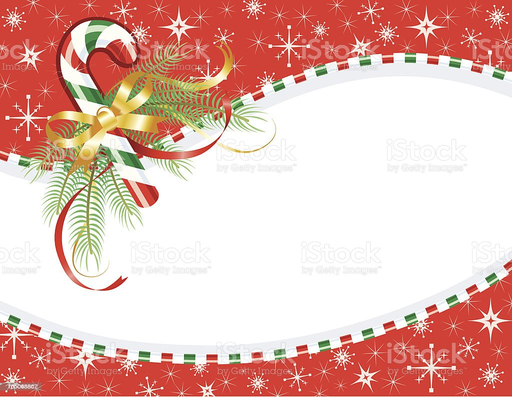 Candy Cane Christmas Card royalty-free stock vector art