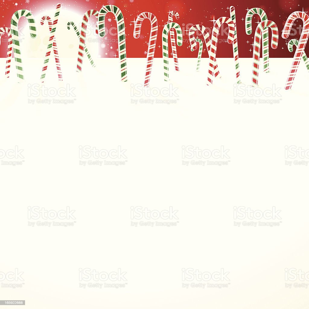 Candy Cane Field - Very Detailed royalty-free stock vector art