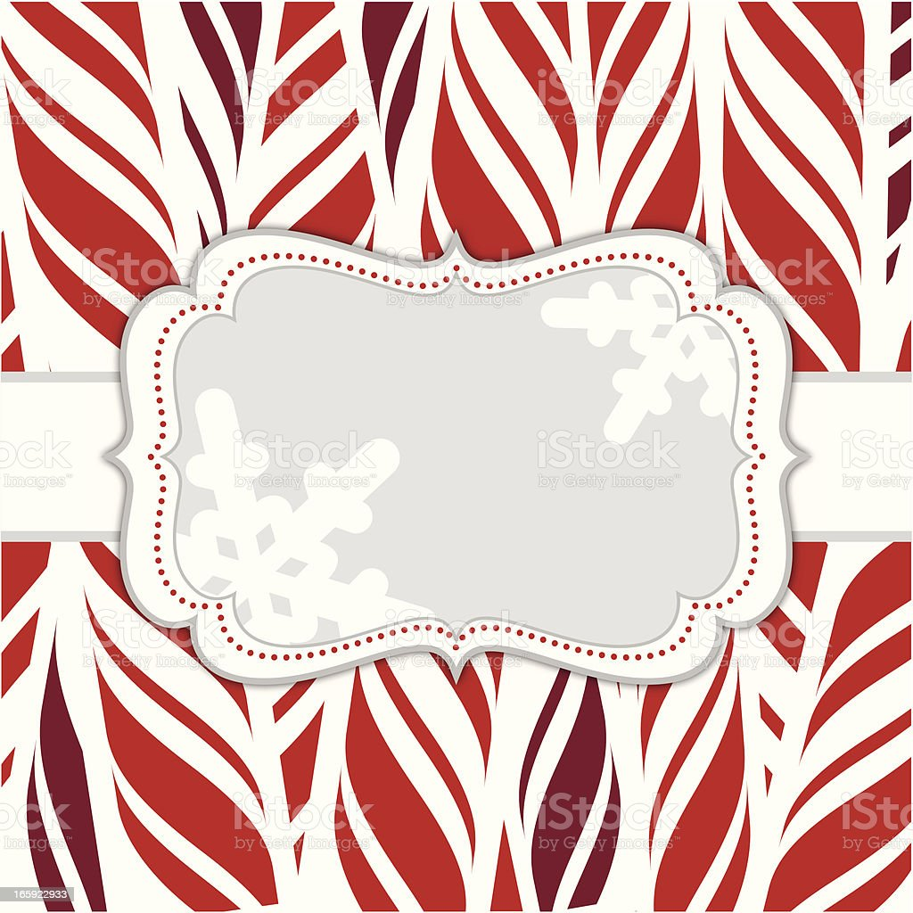 Candy Cane Frame royalty-free stock vector art