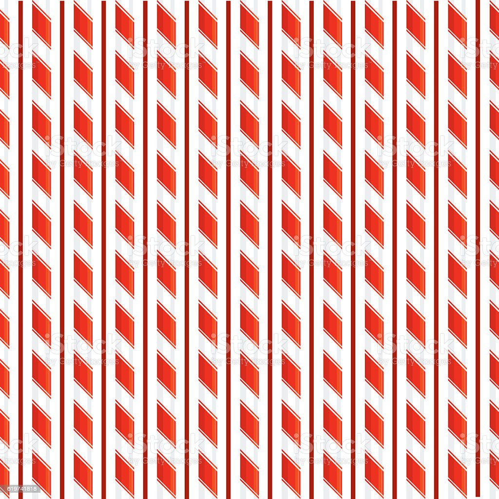 Candy Cane Seamless repeating Pattern. vector art illustration