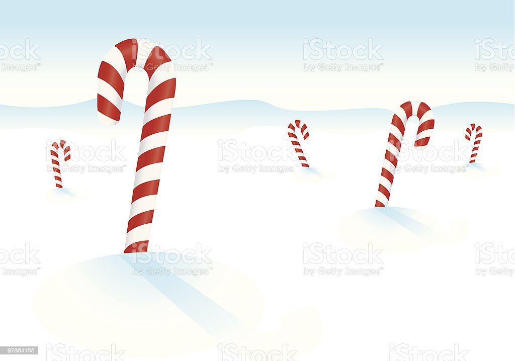 candy cane snow drifts royalty-free stock vector art