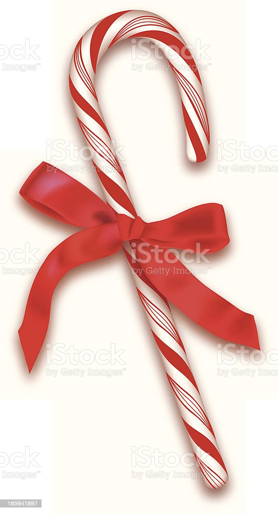 Candy Cane vector art illustration