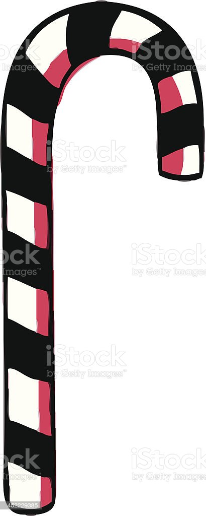 Candy cane. royalty-free stock vector art