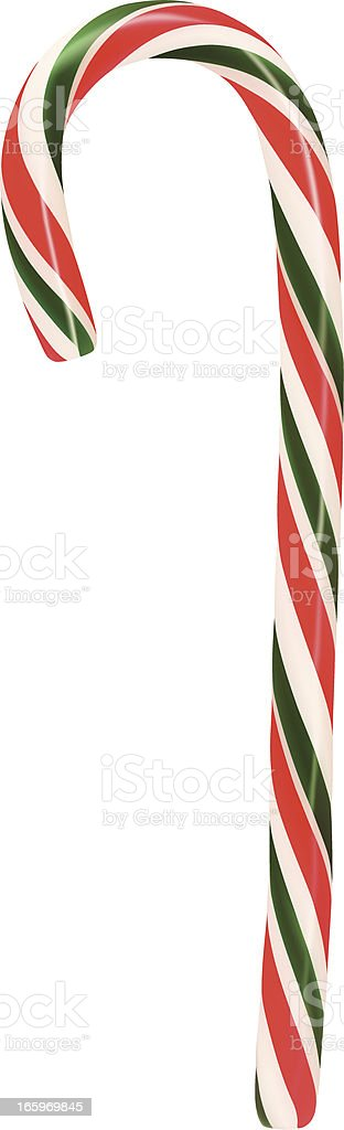 Candy Cane Vector vector art illustration