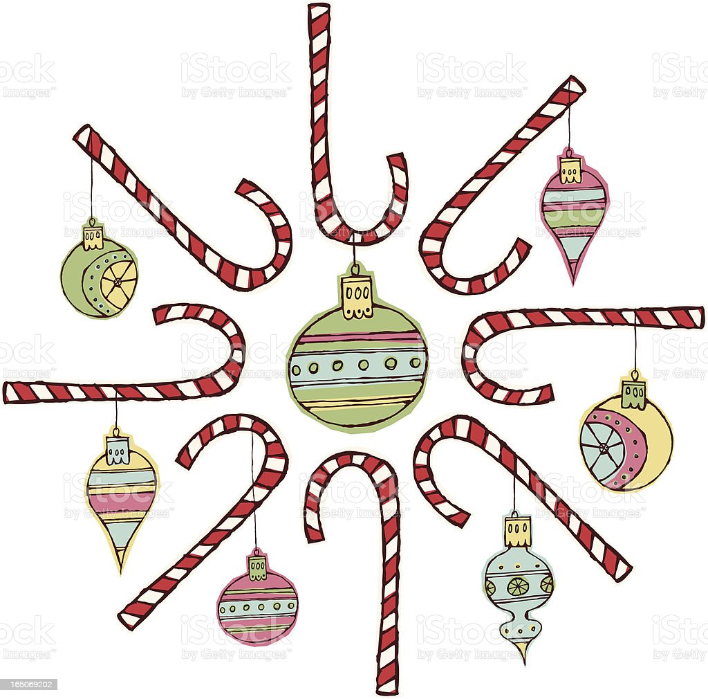 Candy Cane Wreath royalty-free stock vector art