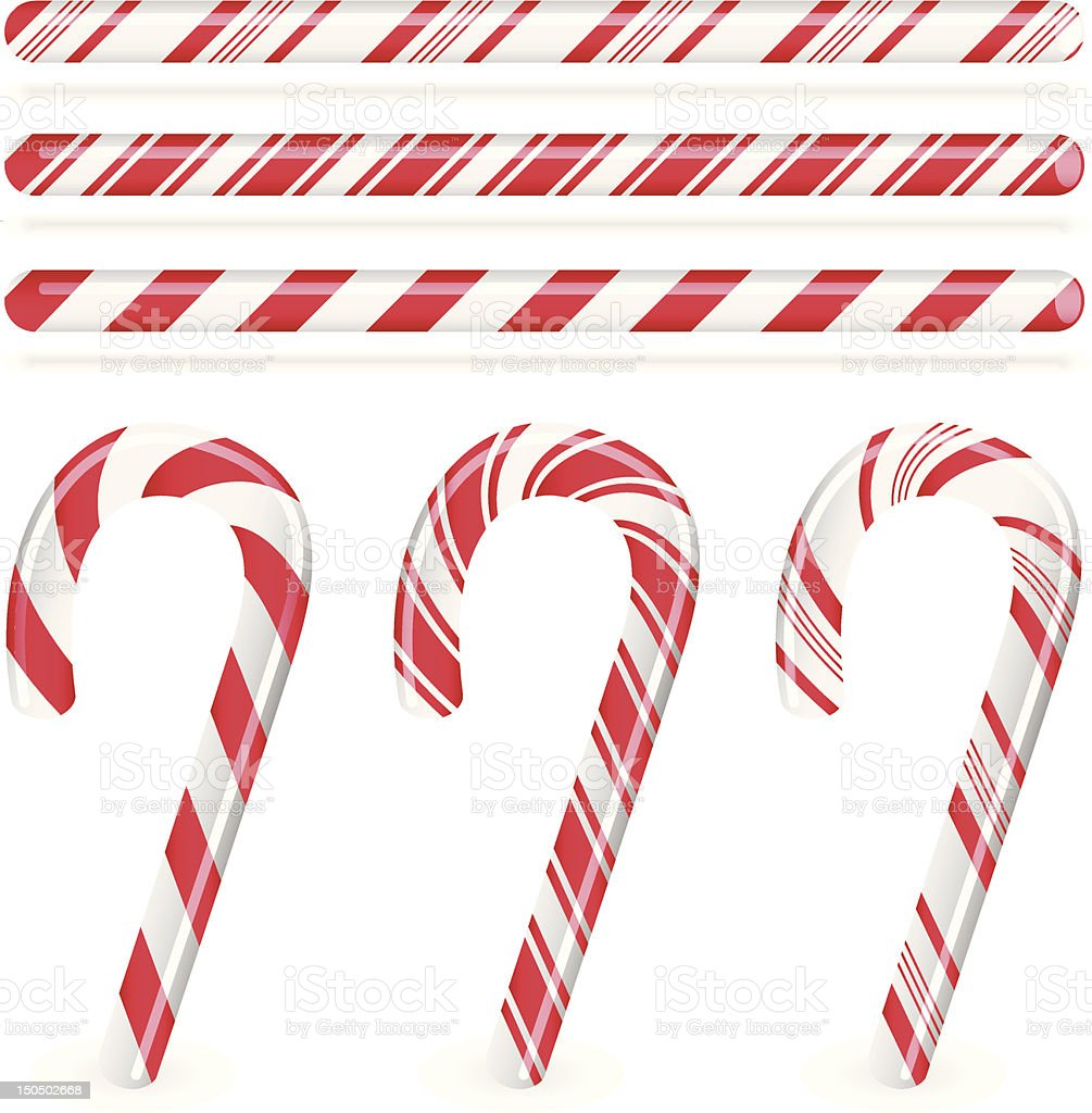 Candy Canes vector art illustration