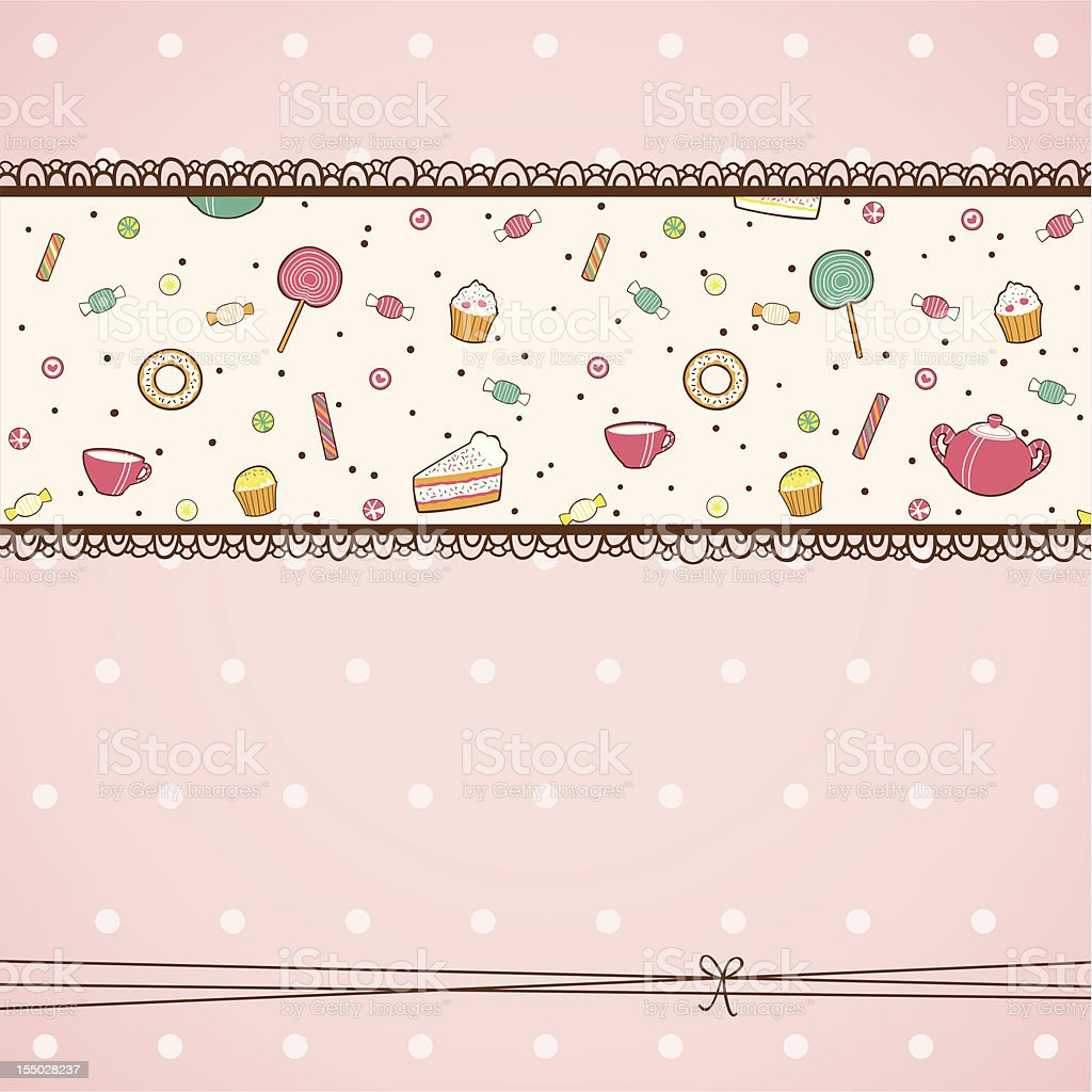 Candy card royalty-free stock vector art