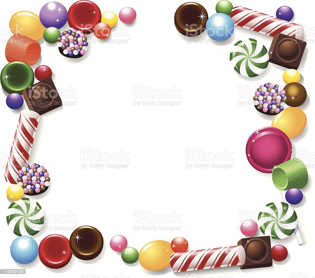Candy Frame vector art illustration