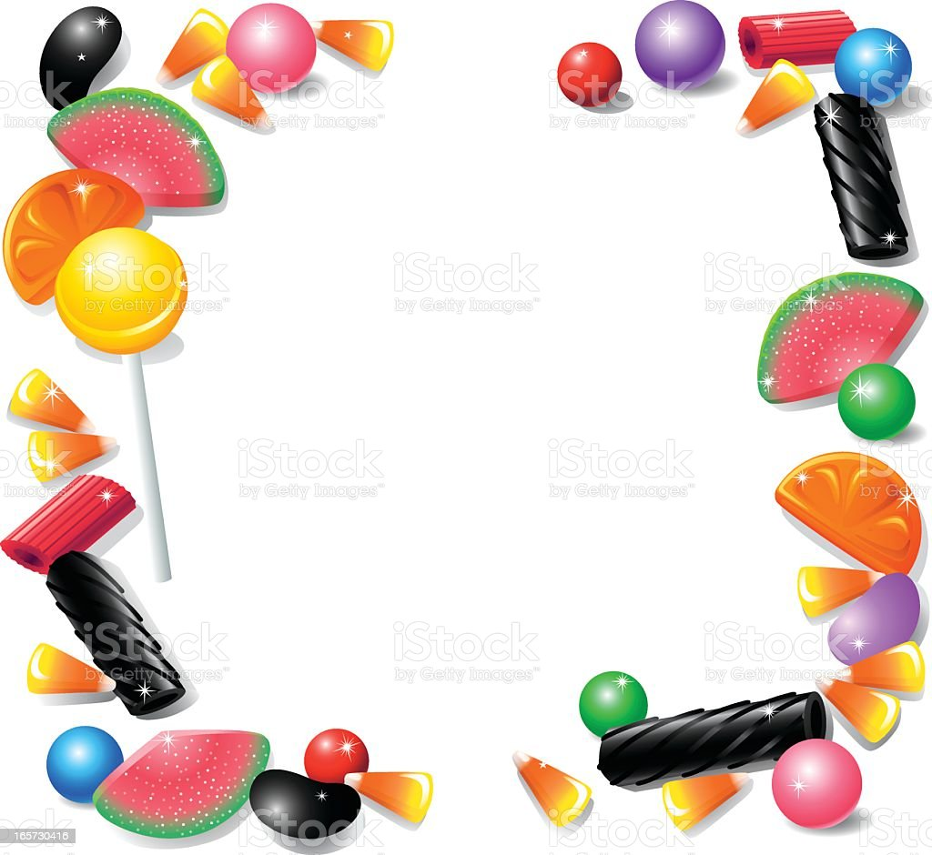 Candy Frame with Licorice royalty-free stock vector art