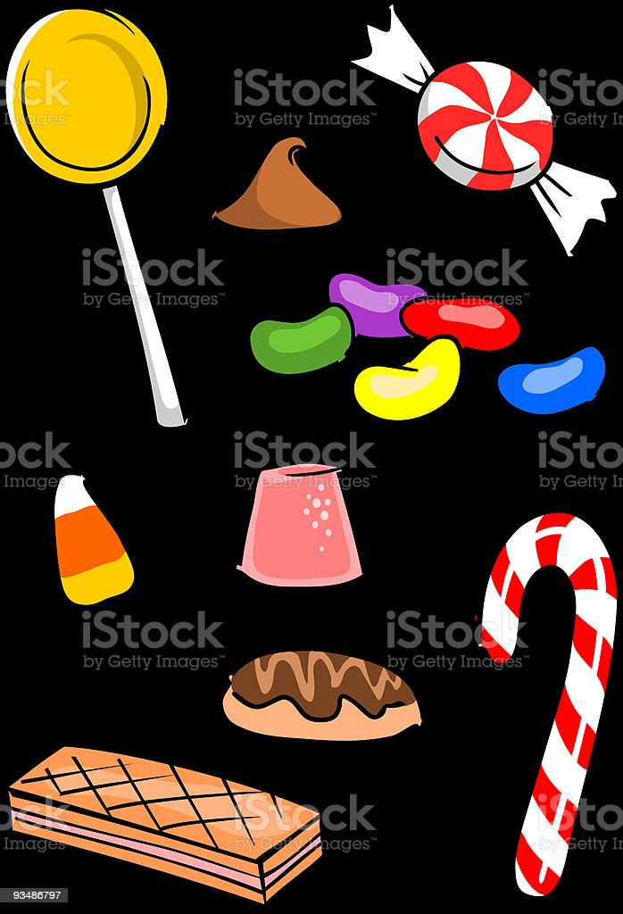 Candy Group royalty-free stock vector art