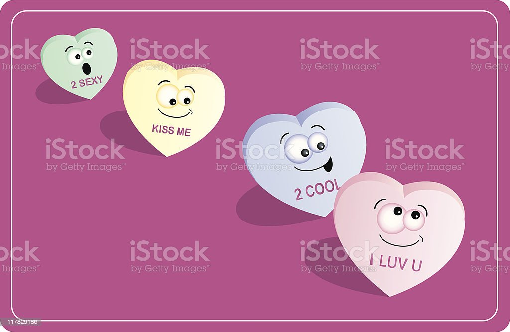 Candy Heart Parade vector art illustration