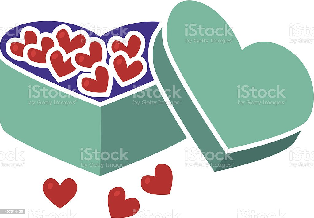 candy hearts for Valentine's Day vector art illustration
