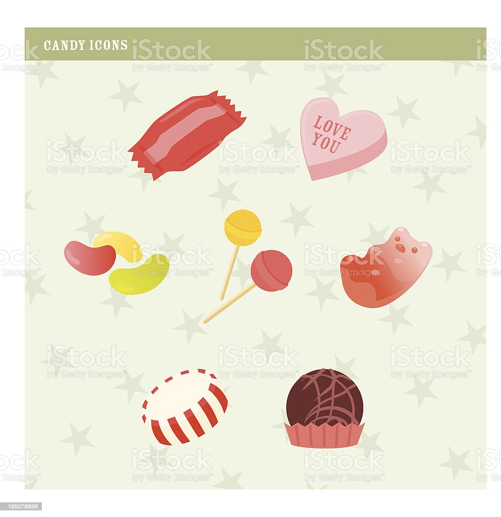 candy icon vector art illustration