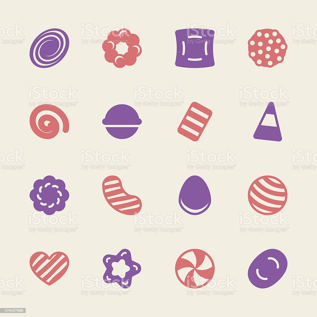 Candy Icons Set 2 - Color Series vector art illustration