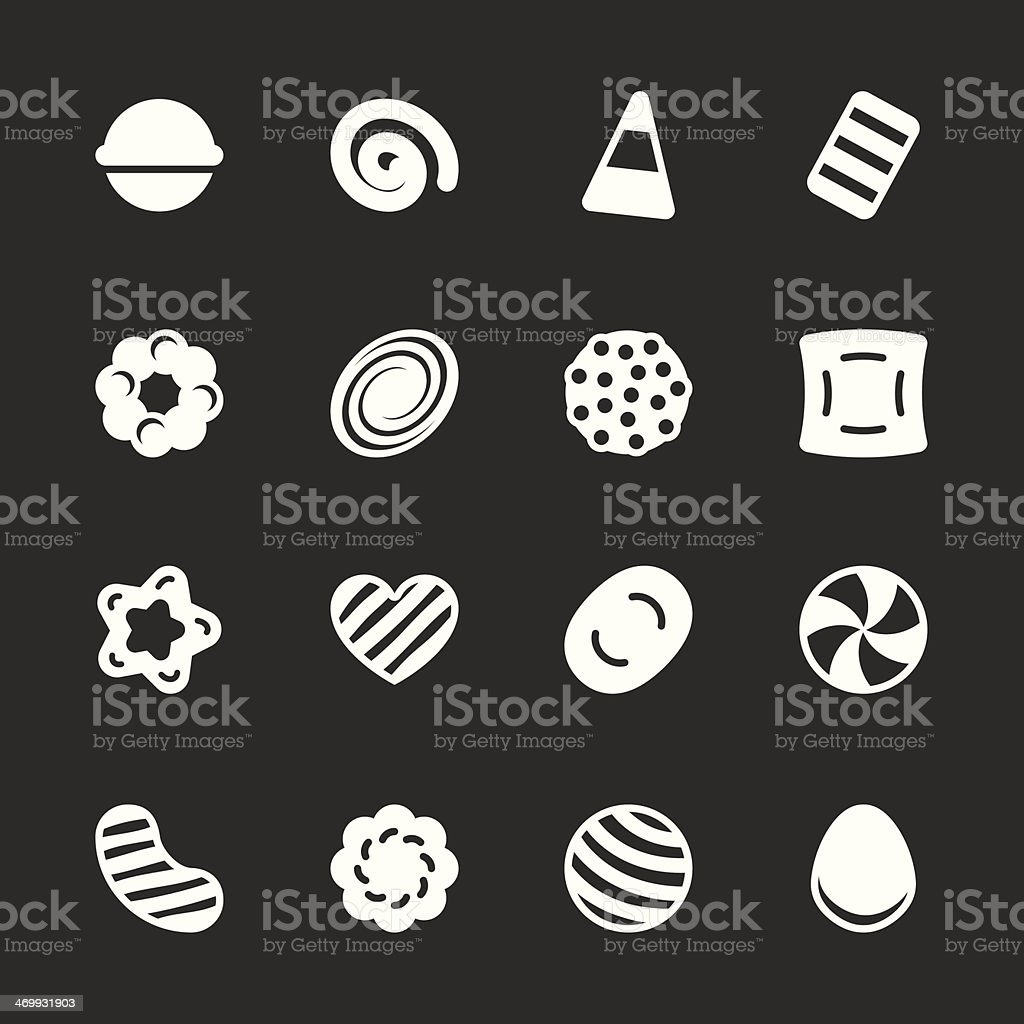 Candy Icons Set 2 - White Series vector art illustration