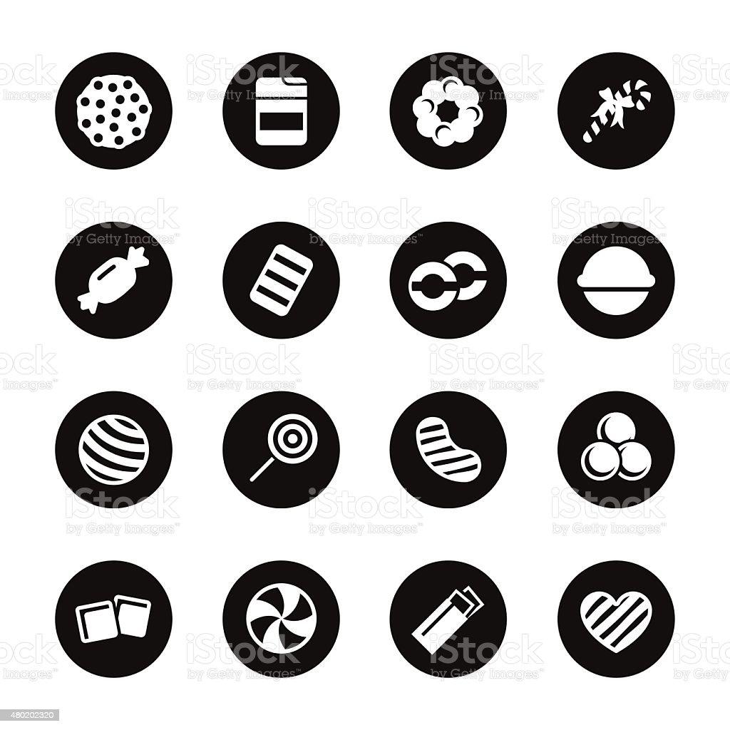 Candy Icons Set 4 - Black Circle Series vector art illustration