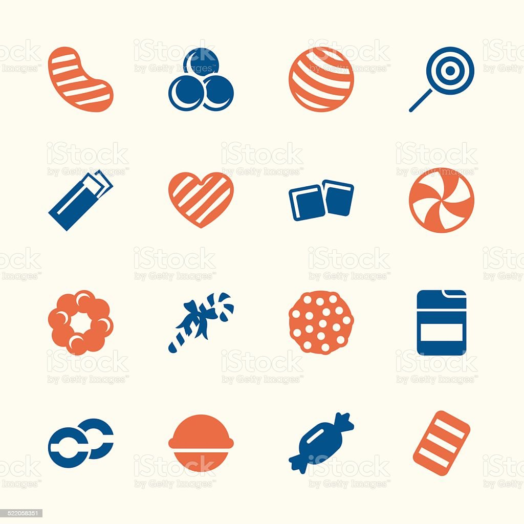Candy Icons Set 4 - Color Series vector art illustration
