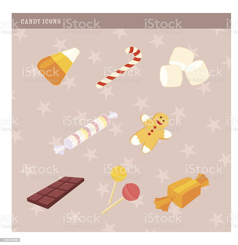 Candy Icons royalty-free stock vector art