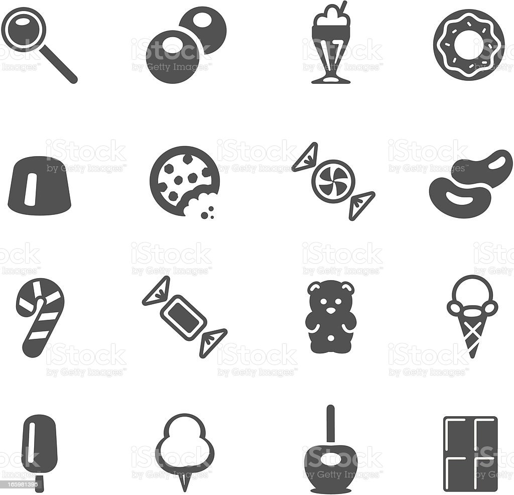 Candy Icons vector art illustration