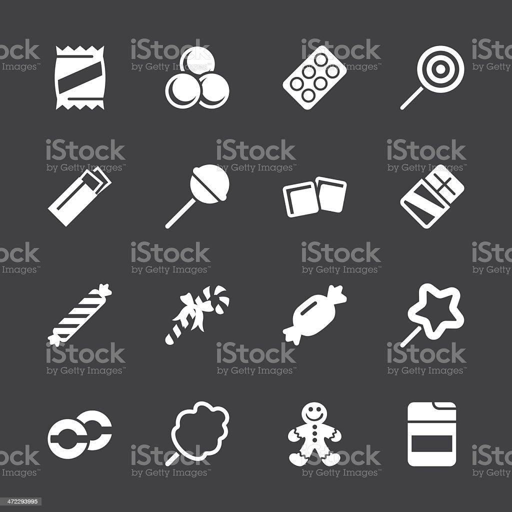 Candy Icons - White Series   EPS10 vector art illustration