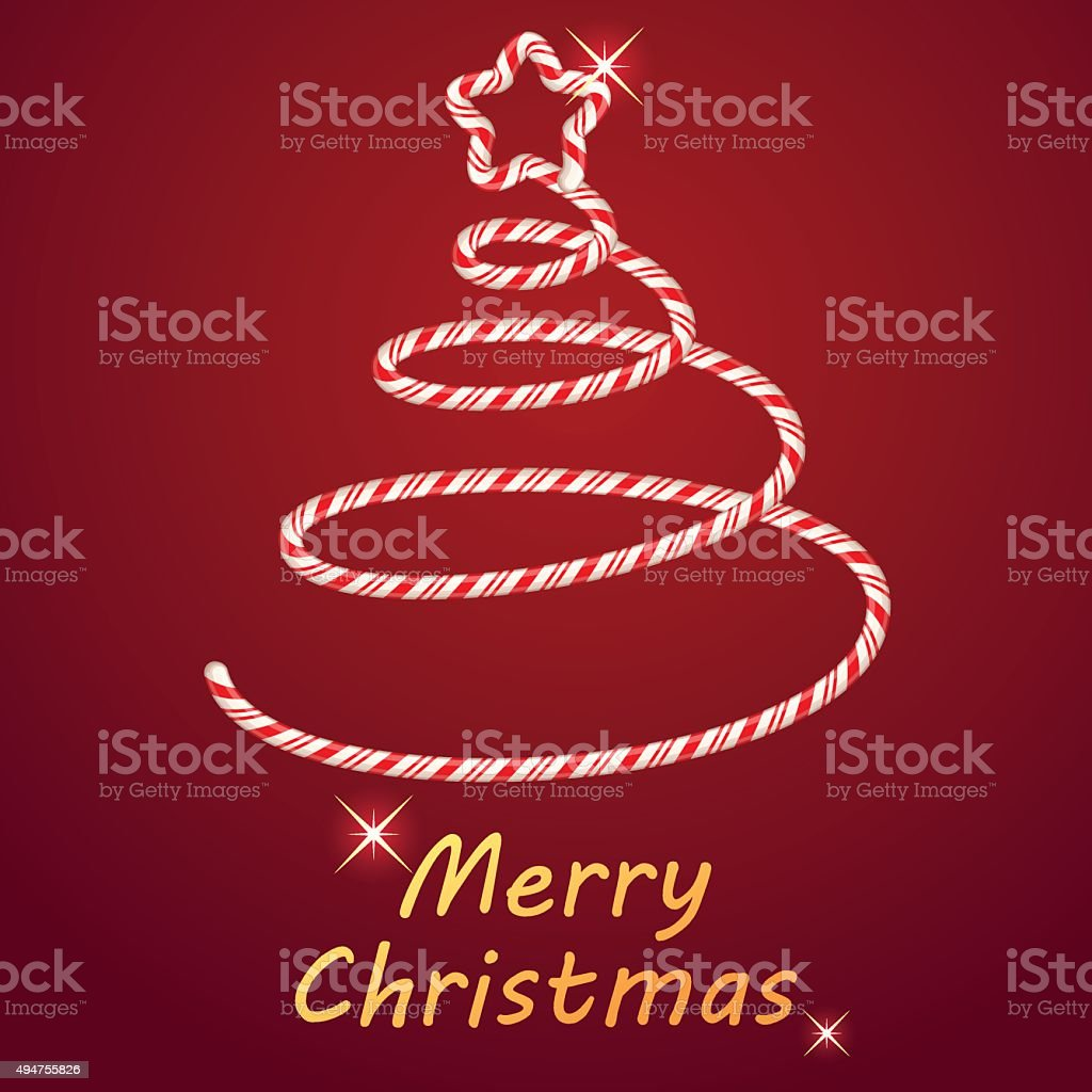 Candy in christmas tree shape royalty-free stock vector art