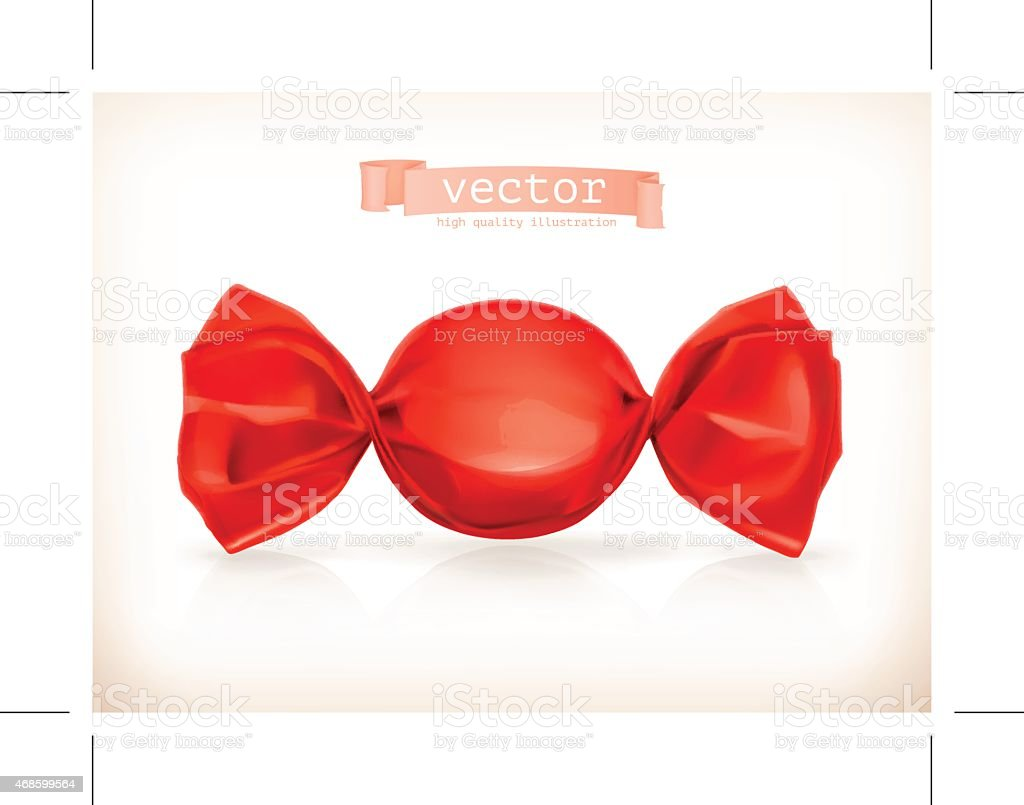 Candy in red, vector illustration vector art illustration