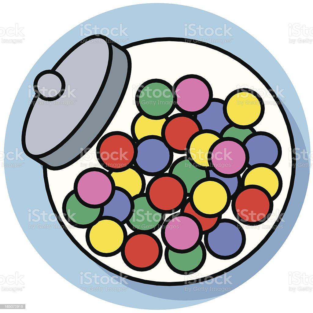 candy jar royalty-free stock vector art