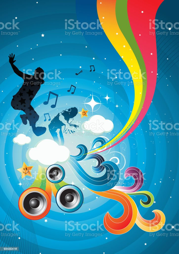 Candy Music royalty-free stock vector art
