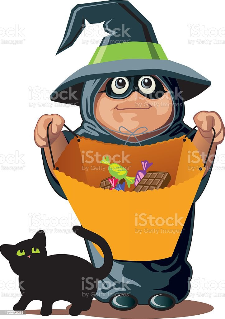 Candy please... Witch costume royalty-free stock vector art