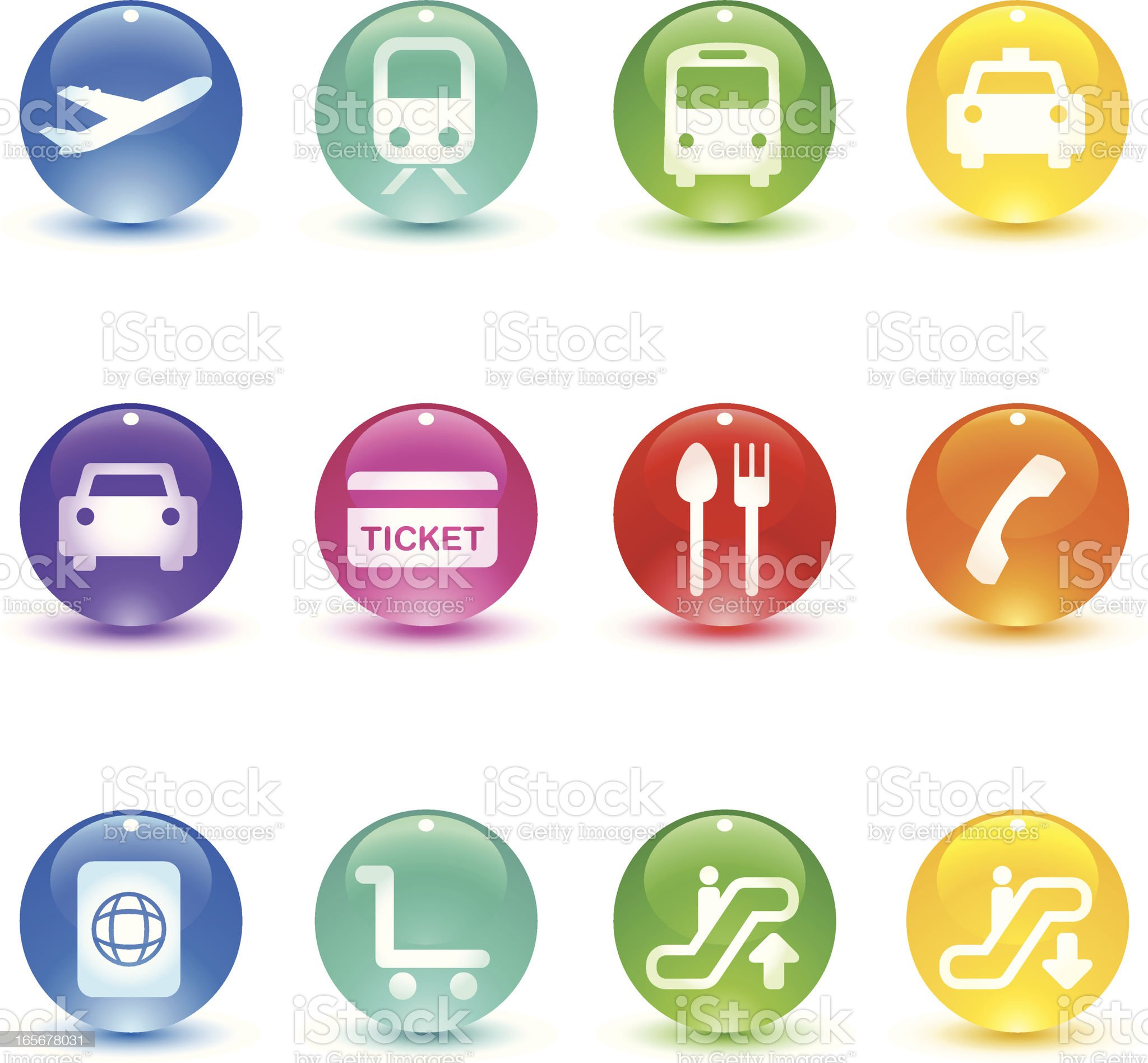 Candy Series - Travel & Transport royalty-free stock vector art