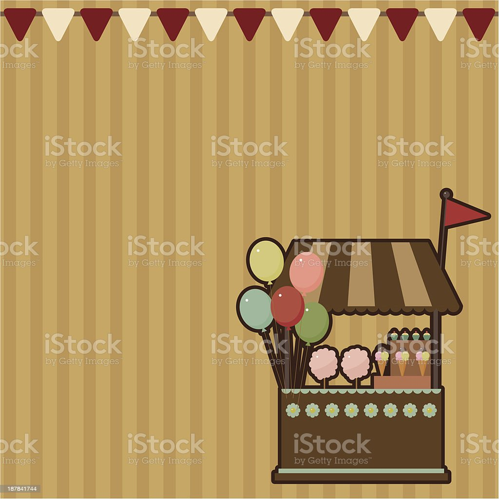 Candy shop card royalty-free stock vector art